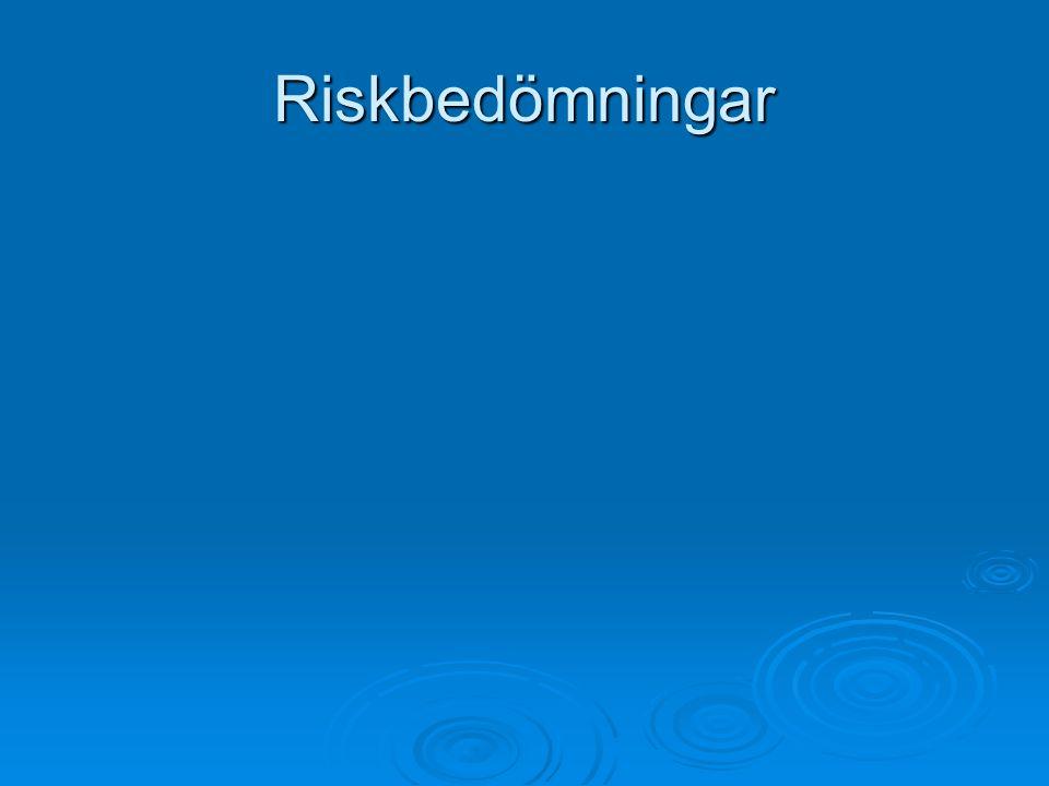 Riskbedömningar