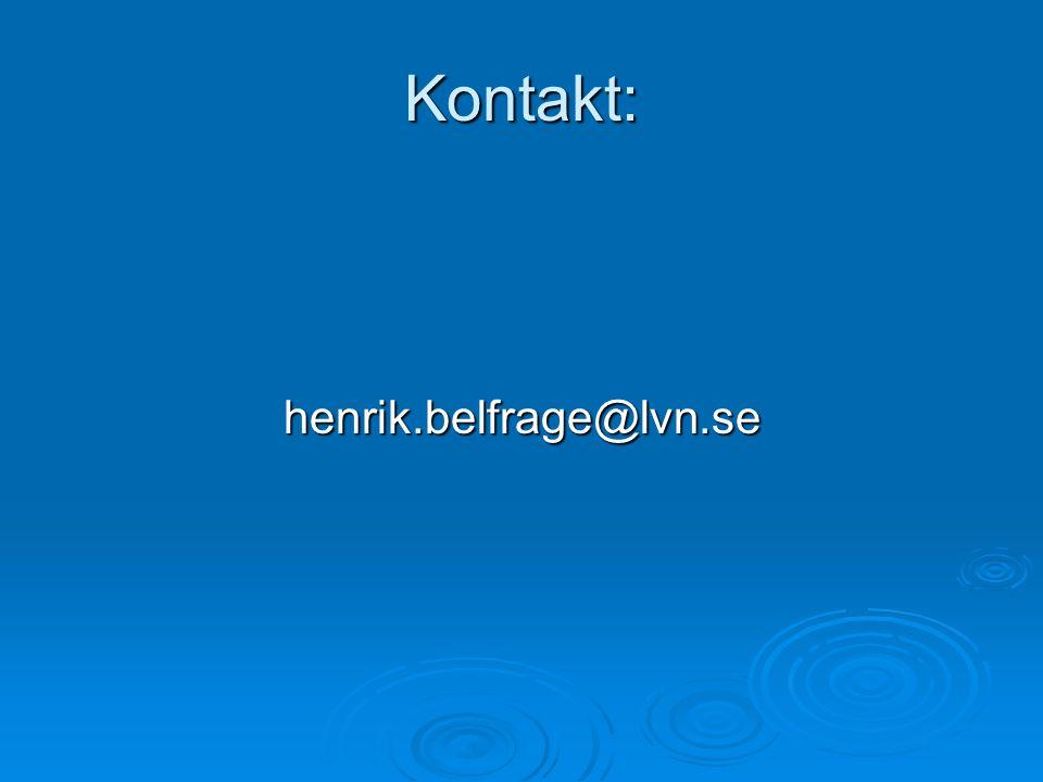 Kontakt: henrik.belfrage@lvn.se