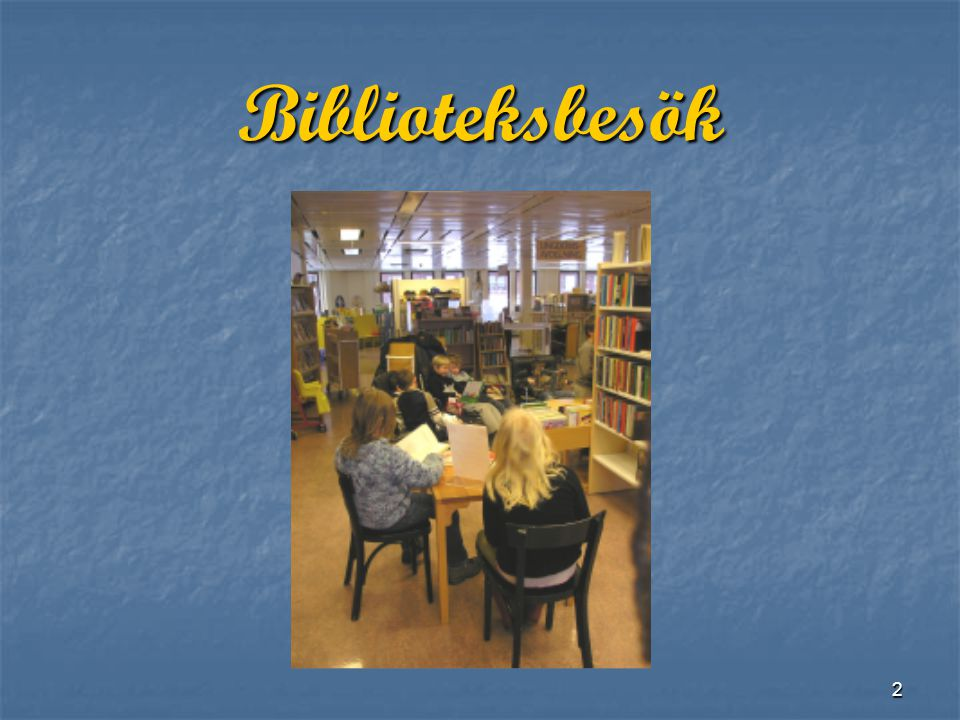 Biblioteksbesök
