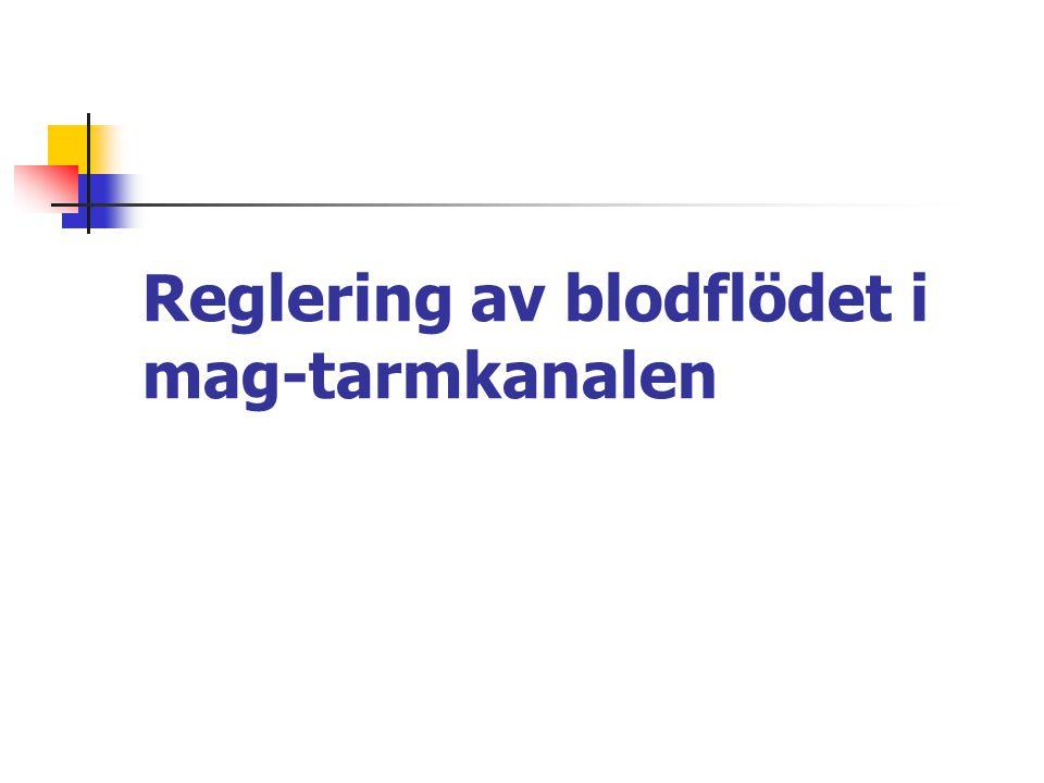 Reglering av blodflödet i mag-tarmkanalen