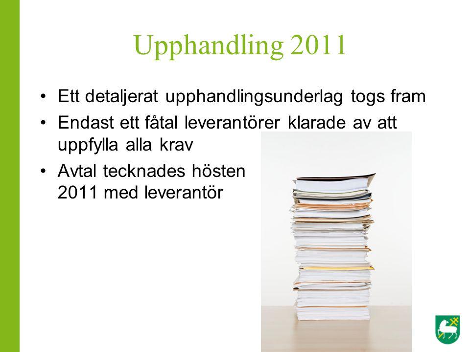 Upphandling 2011 Ett detaljerat upphandlingsunderlag togs fram