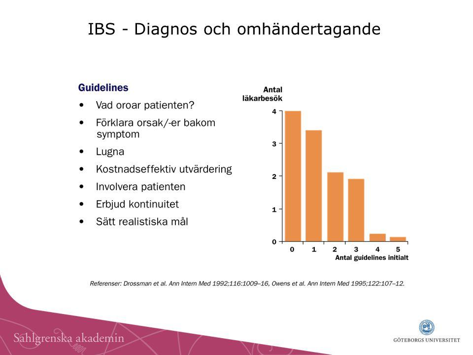 IBS - Diagnos och omhändertagande