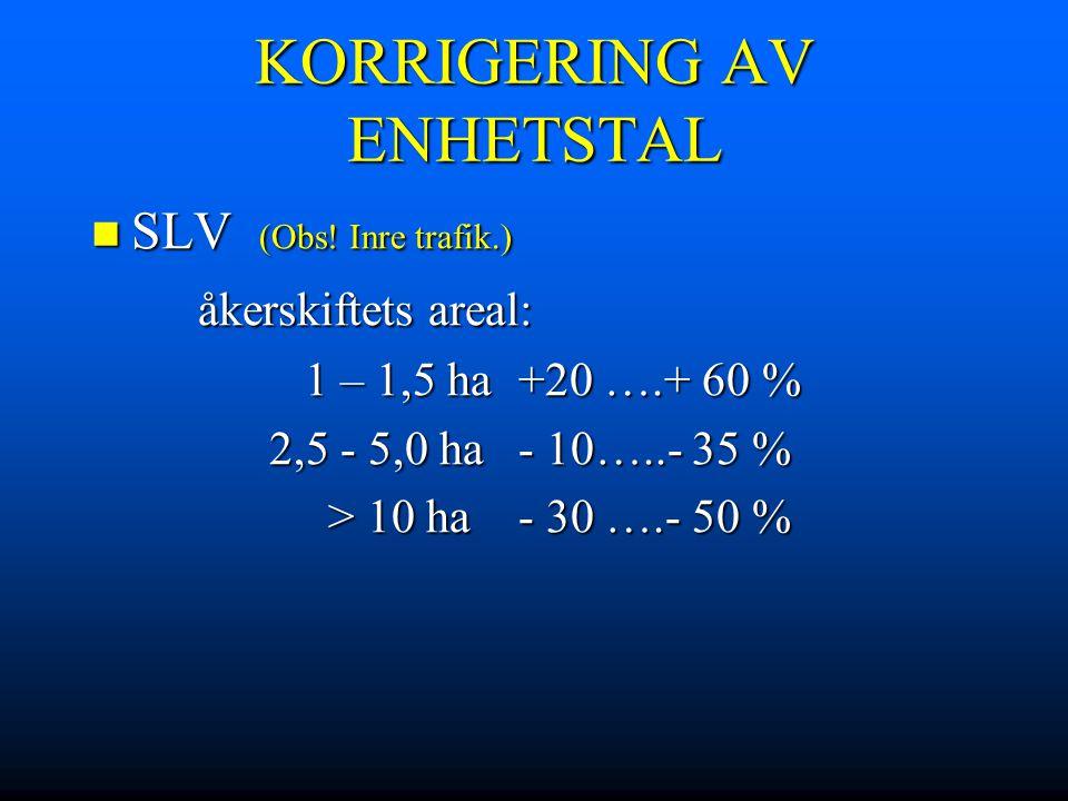 KORRIGERING AV ENHETSTAL