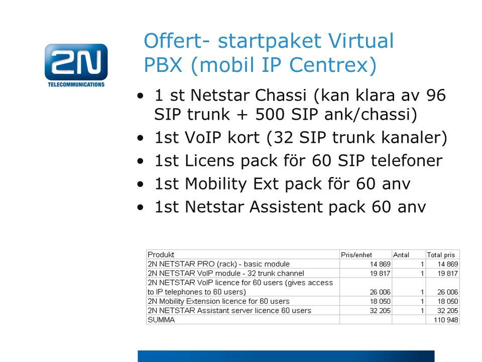 Offert- startpaket Virtual PBX (mobil IP Centrex)
