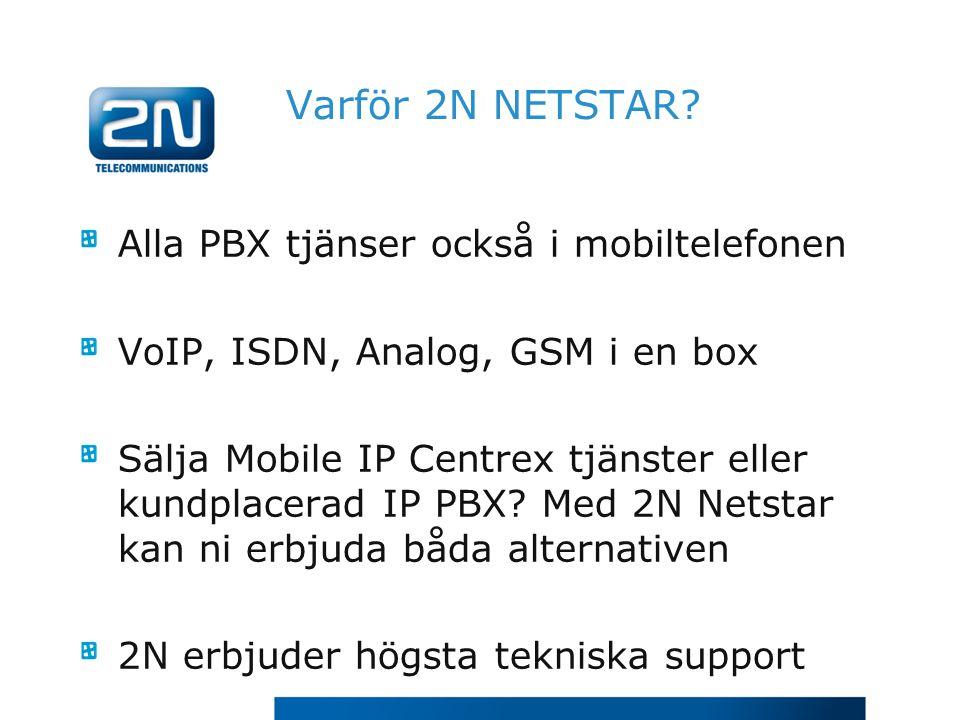 Varför 2N NETSTAR Alla PBX tjänser också i mobiltelefonen