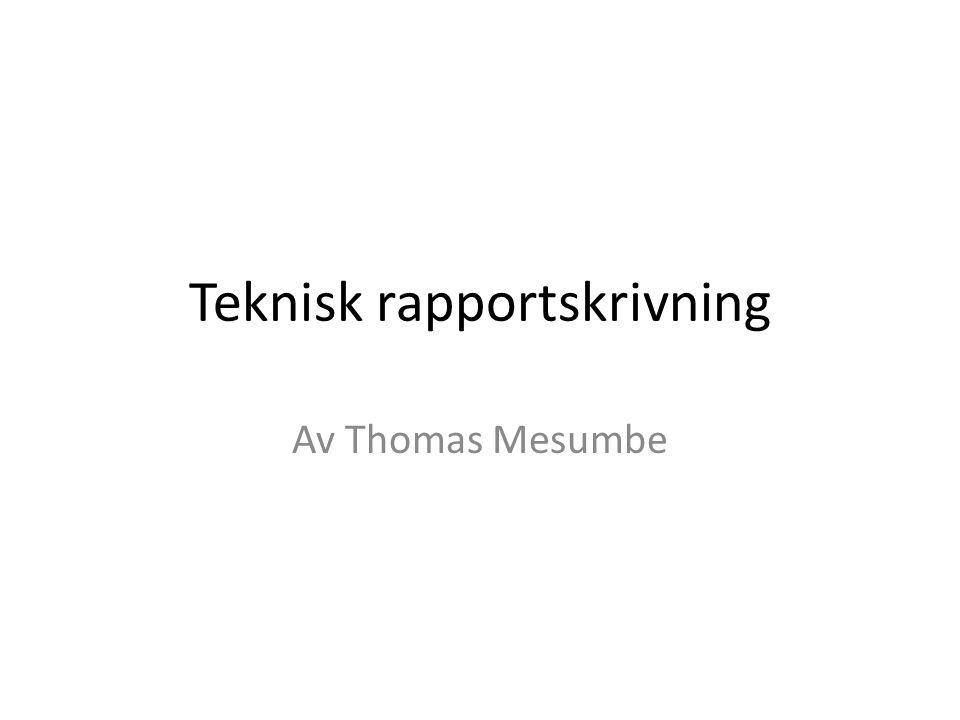 Teknisk rapportskrivning