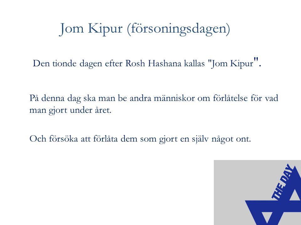 Jom Kipur (försoningsdagen)