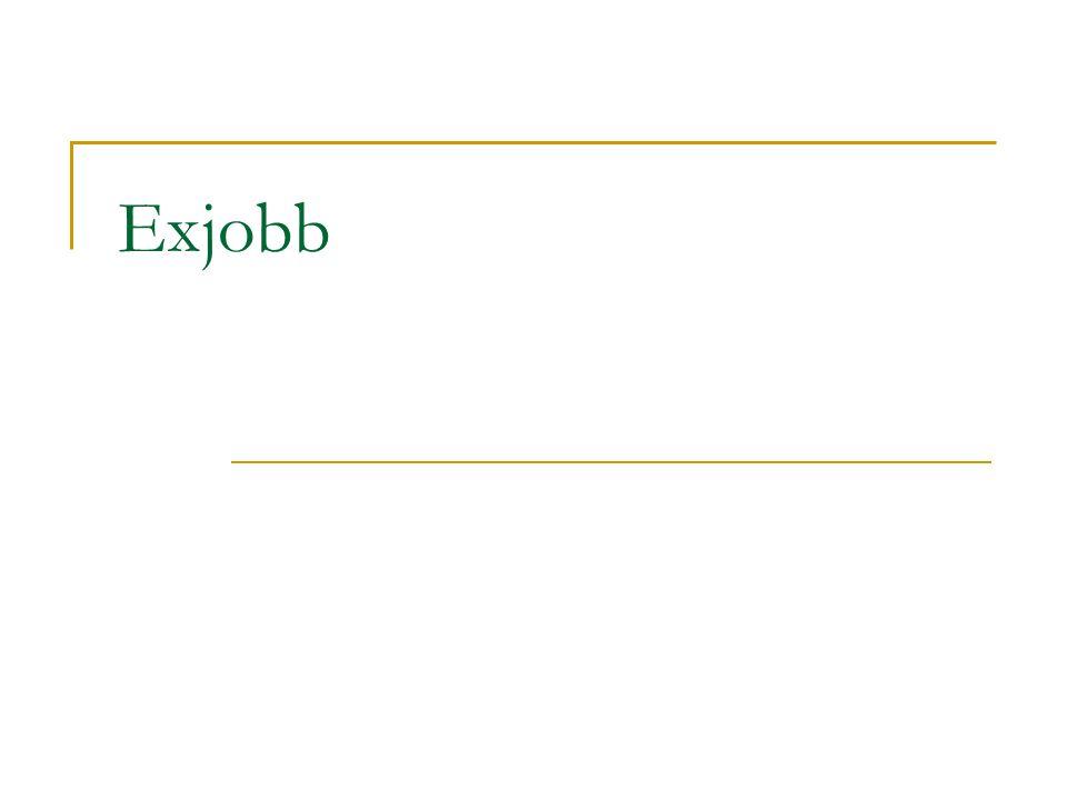 Exjobb
