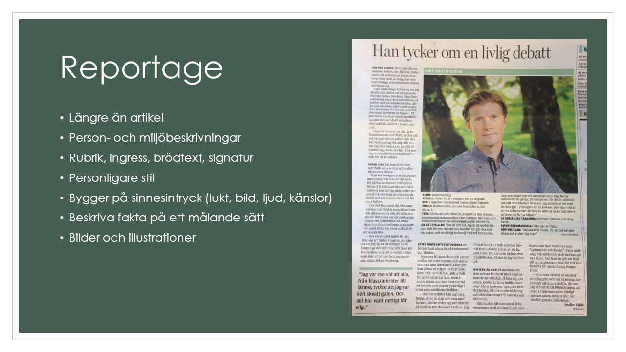 Åk 9 2013 - repetition av genrer inför NP