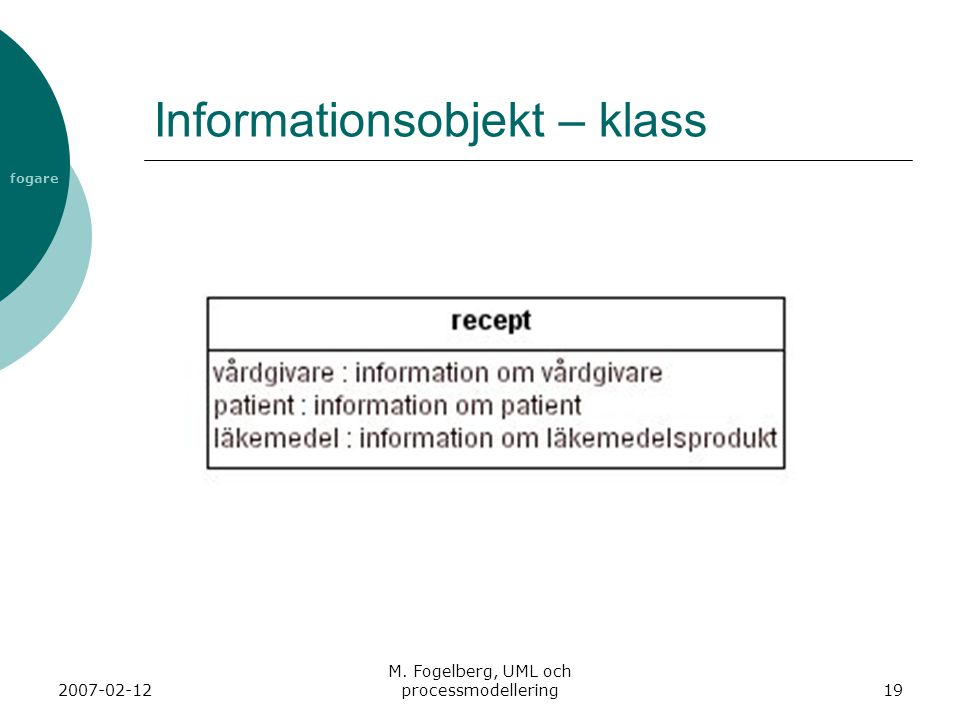 Informationsobjekt – klass
