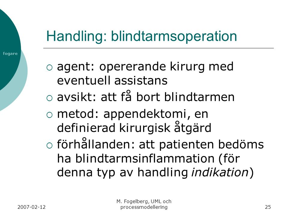 Handling: blindtarmsoperation