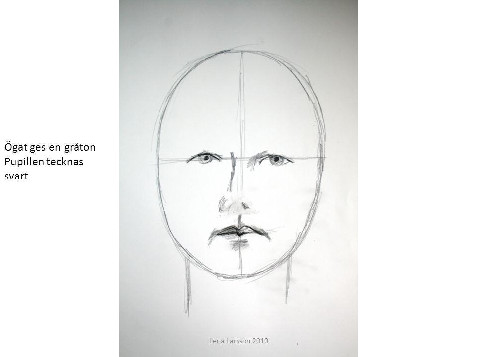 Ögat ges en gråton Pupillen tecknas svart Lena Larsson 2010