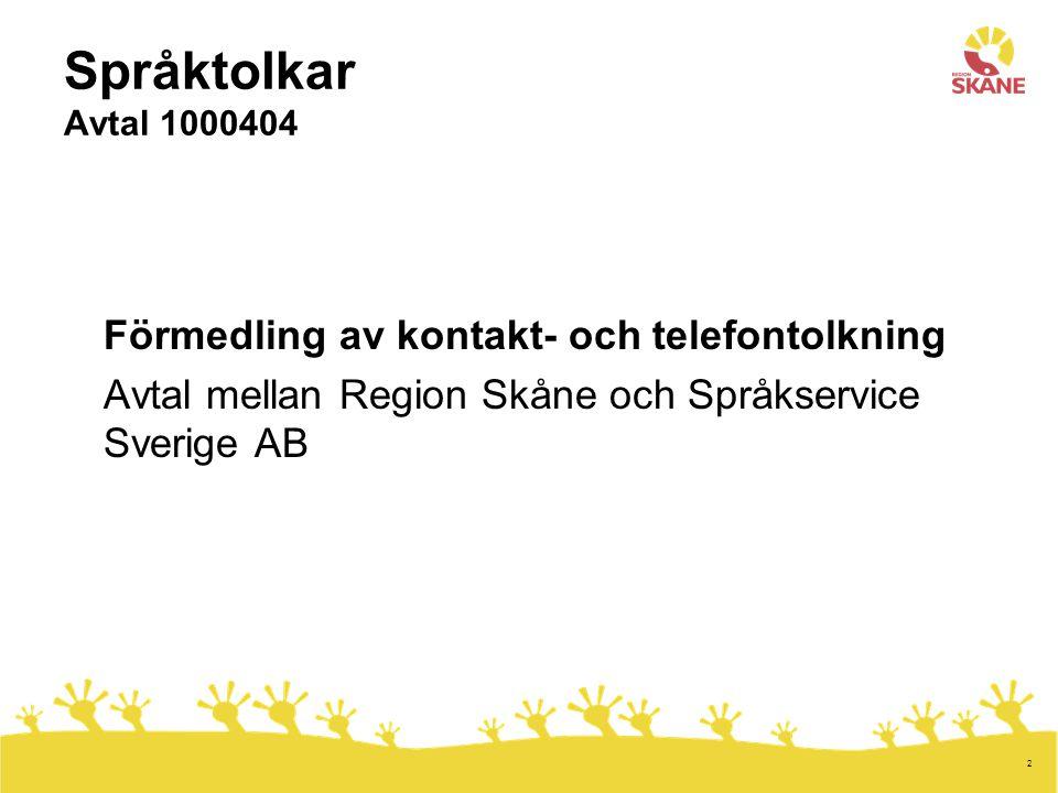 Språktolkar Avtal 1000404 Förmedling av kontakt- och telefontolkning
