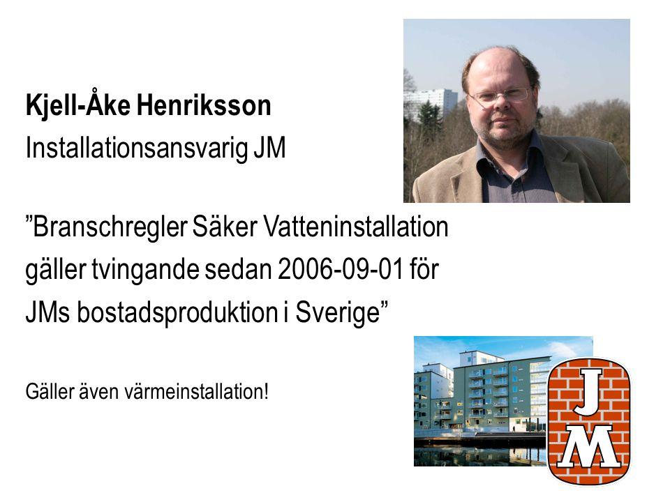 Installationsansvarig JM Branschregler Säker Vatteninstallation