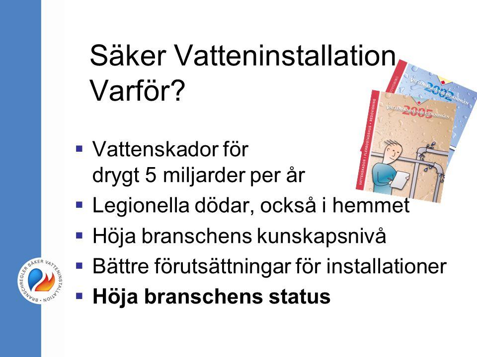 Säker Vatteninstallation Varför