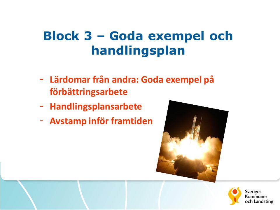 Block 3 – Goda exempel och handlingsplan