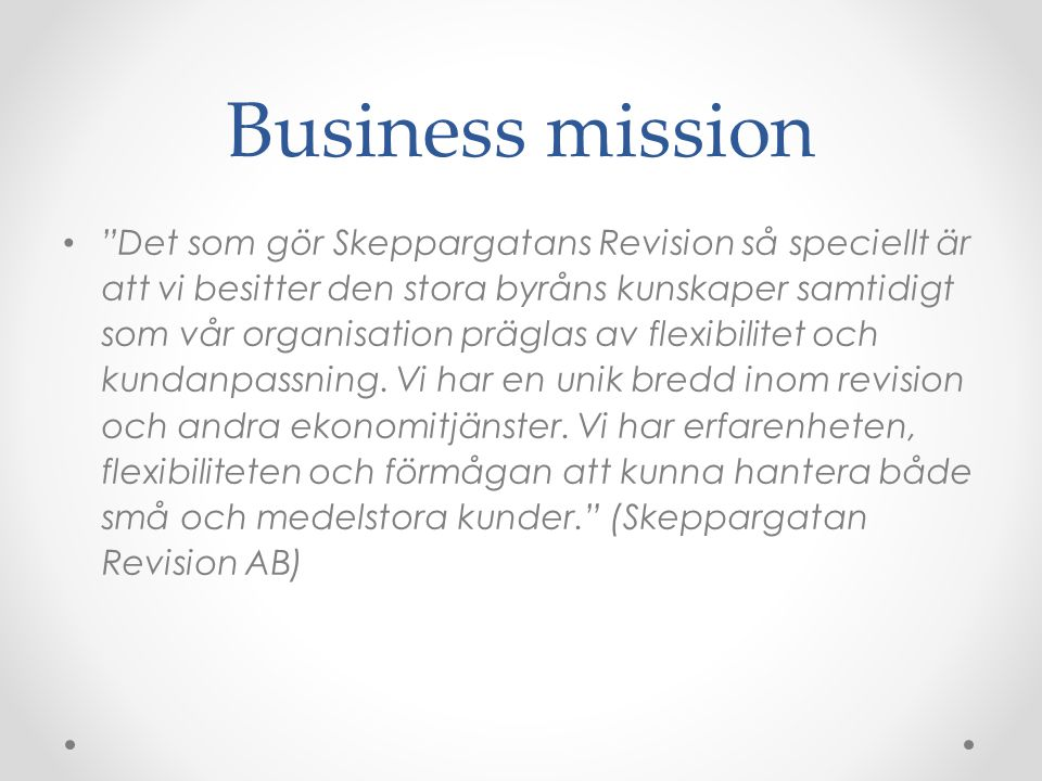 Business mission