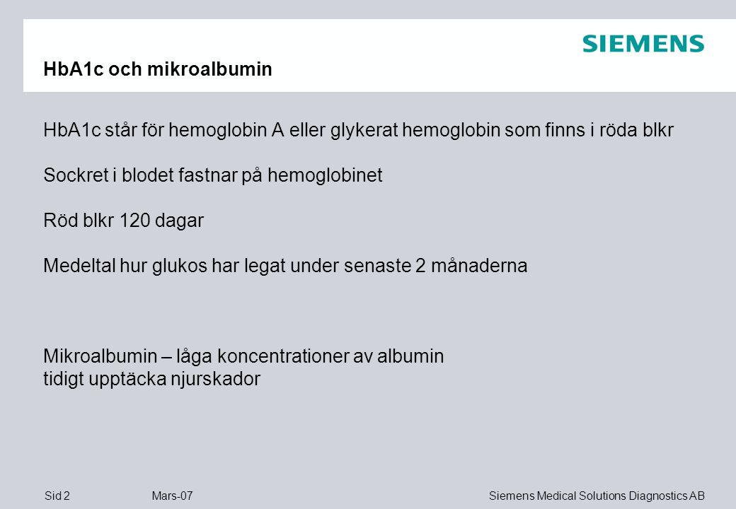 HbA1c och mikroalbumin