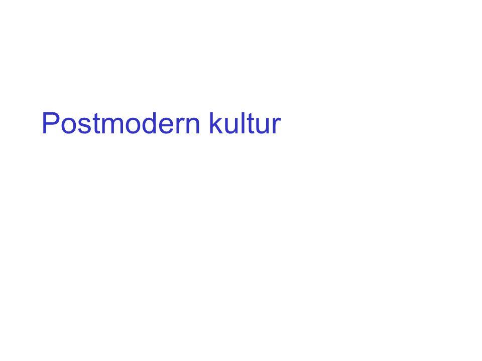 Postmodern kultur