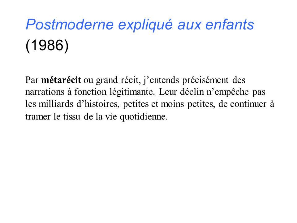 Postmoderne expliqué aux enfants (1986)