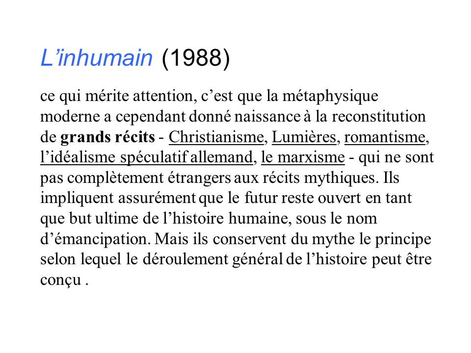 L'inhumain (1988)