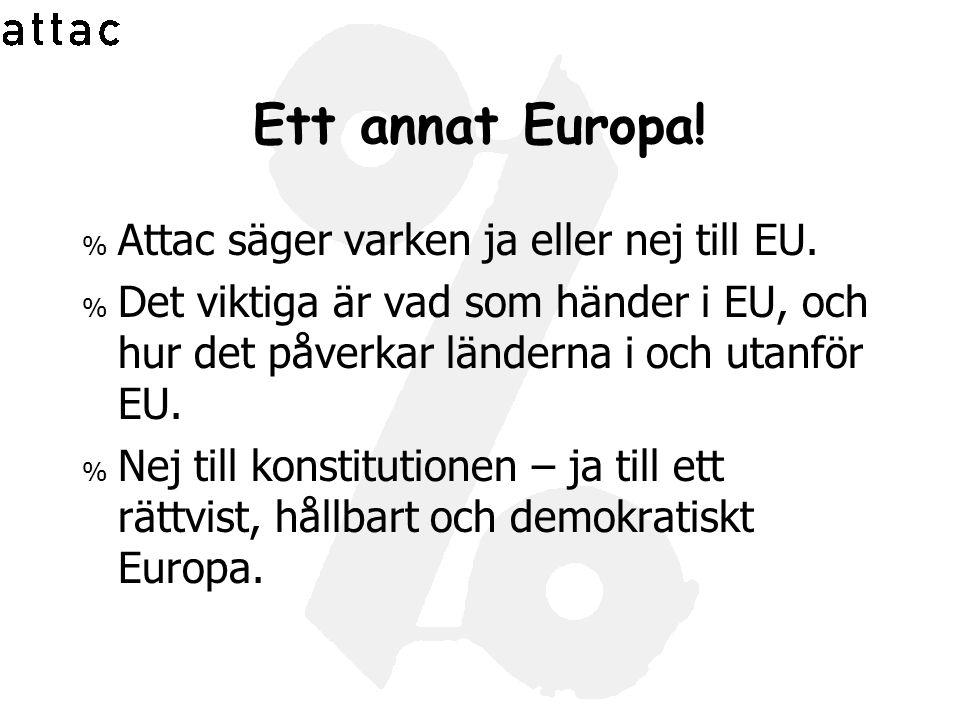 Ett annat Europa! Attac säger varken ja eller nej till EU.