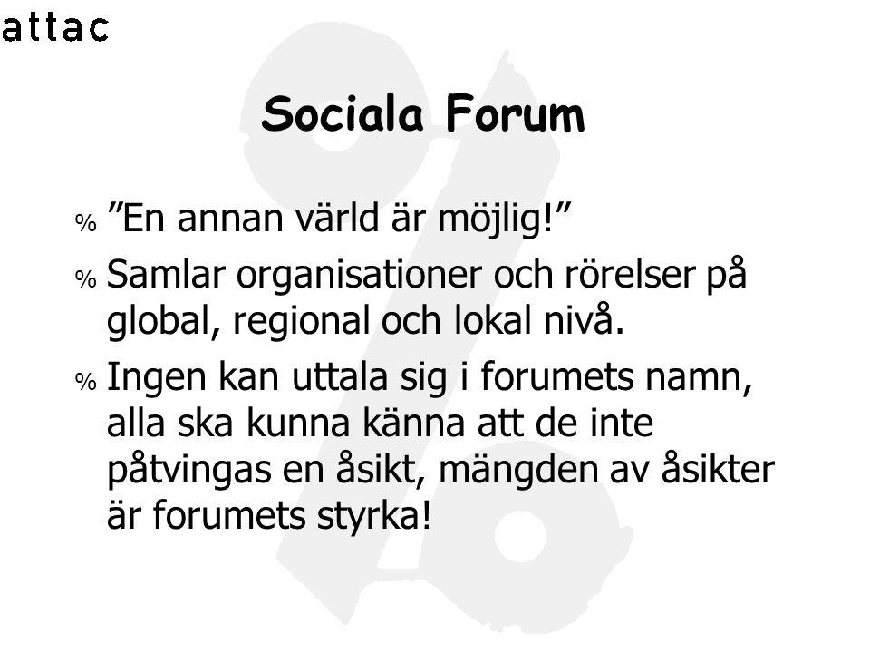 Sociala Forum En annan värld är möjlig!