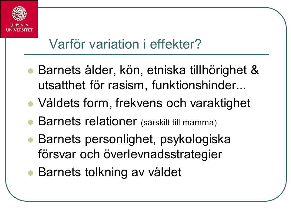 Varför variation i effekter