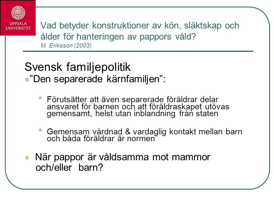 Svensk familjepolitik