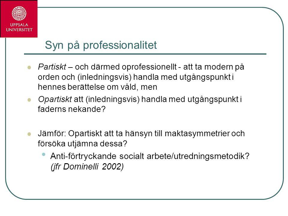 Syn på professionalitet