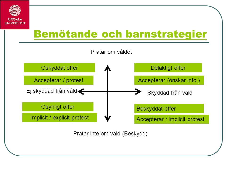 Bemötande och barnstrategier