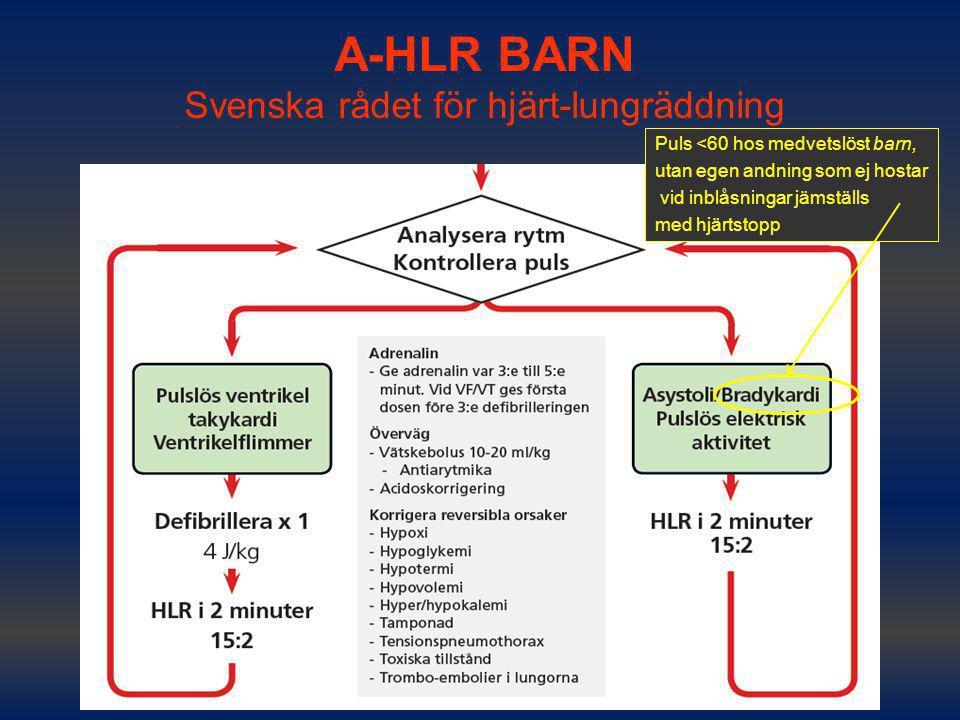 A-HLR BARN Svenska rådet för hjärt-lungräddning
