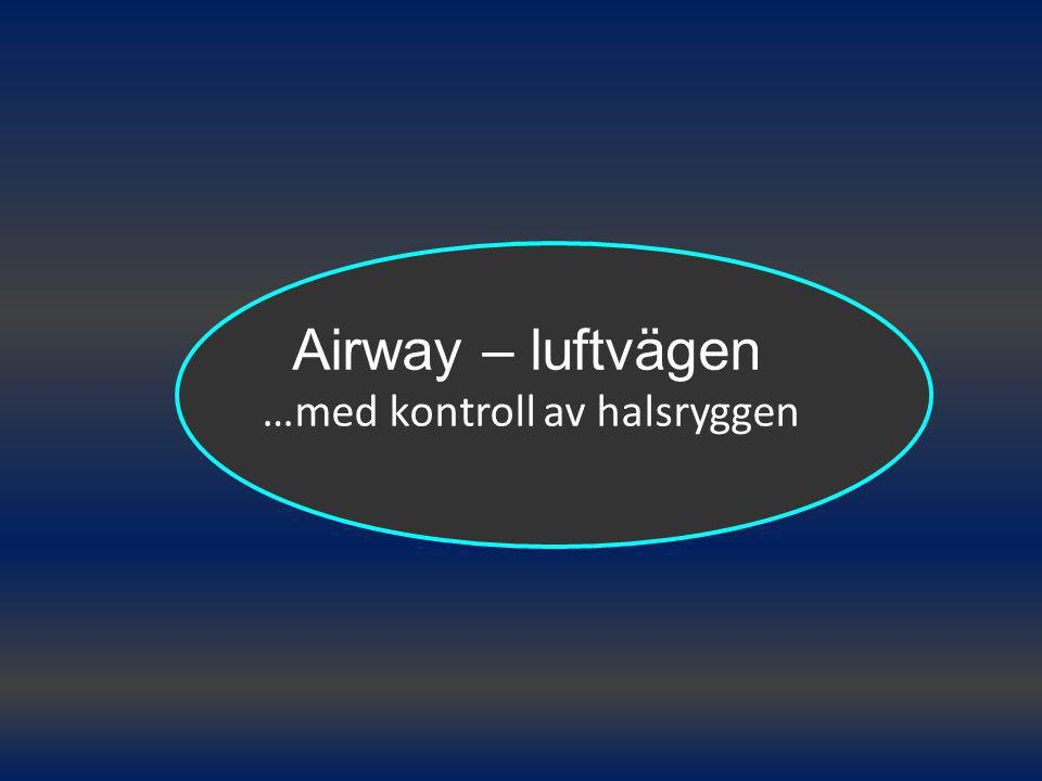 Airway – luftvägen …med kontroll av halsryggen