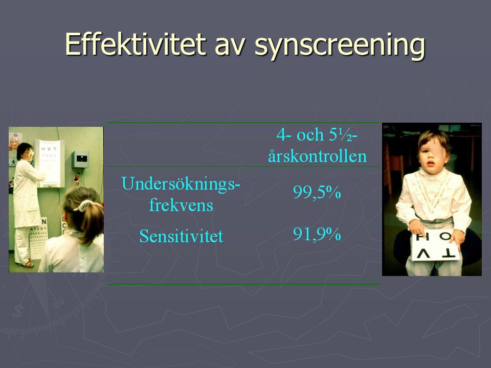 Effektivitet av synscreening