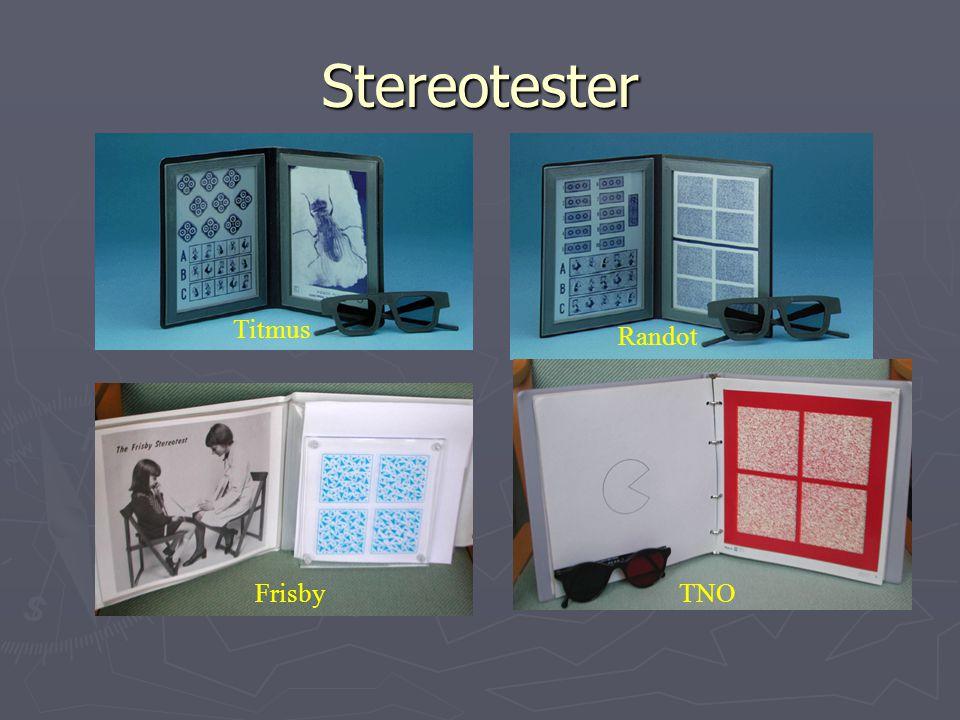 Stereotester Titmus Randot Frisby TNO