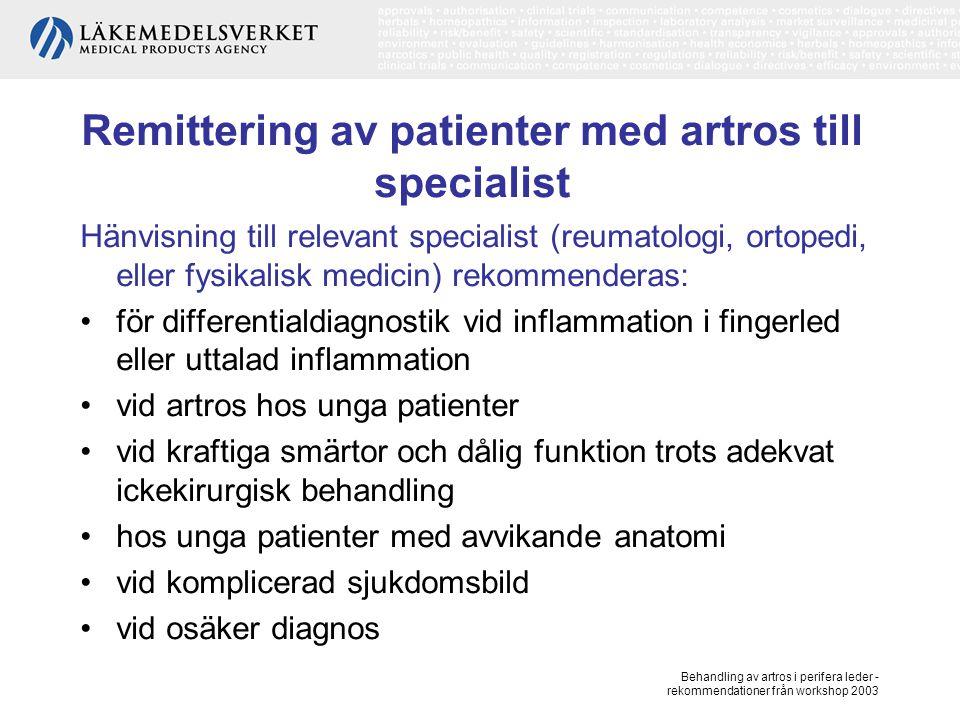 Remittering av patienter med artros till specialist