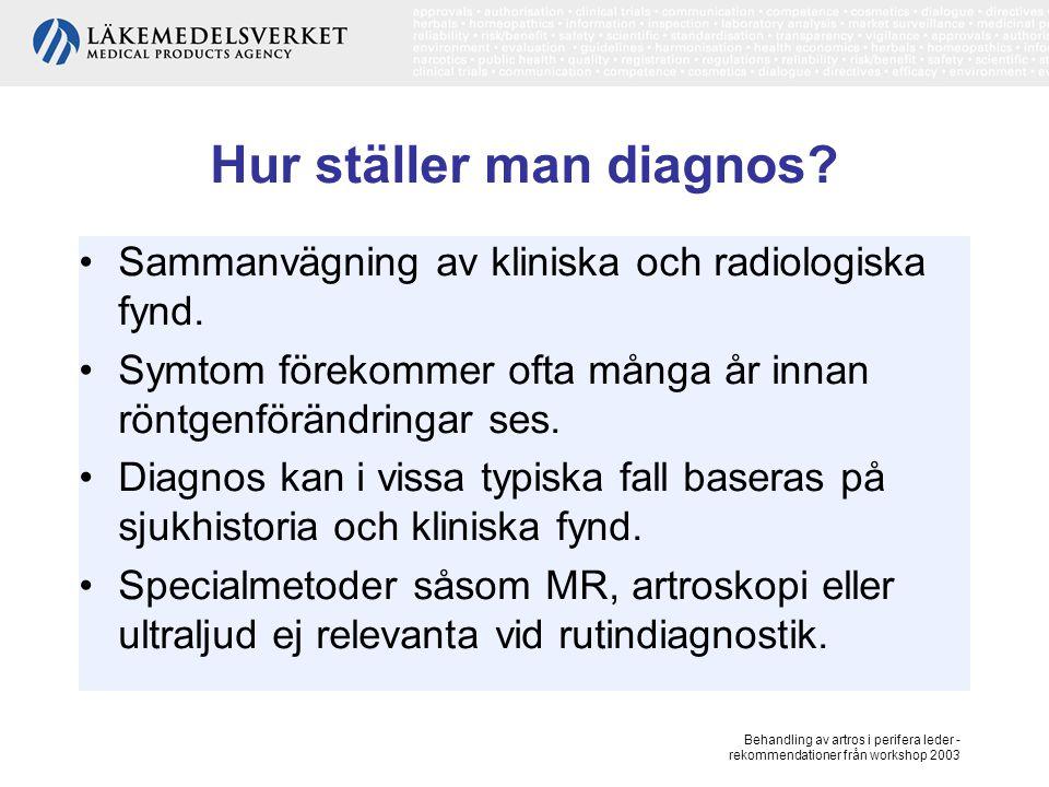 Hur ställer man diagnos