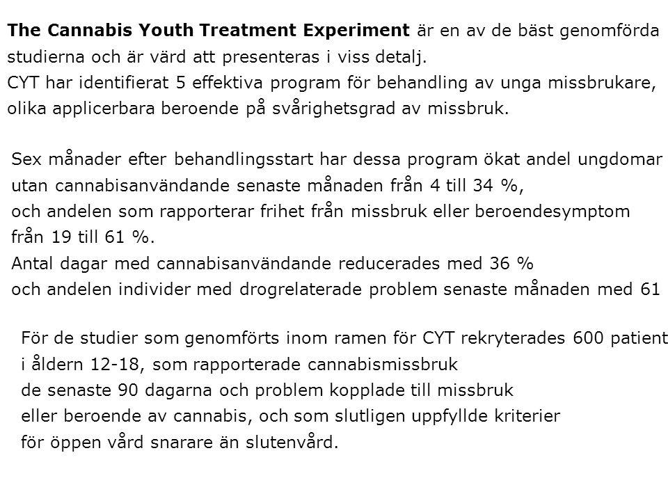 The Cannabis Youth Treatment Experiment är en av de bäst genomförda