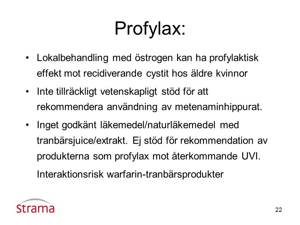 Profylax: Lokalbehandling med östrogen kan ha profylaktisk effekt mot recidiverande cystit hos äldre kvinnor.