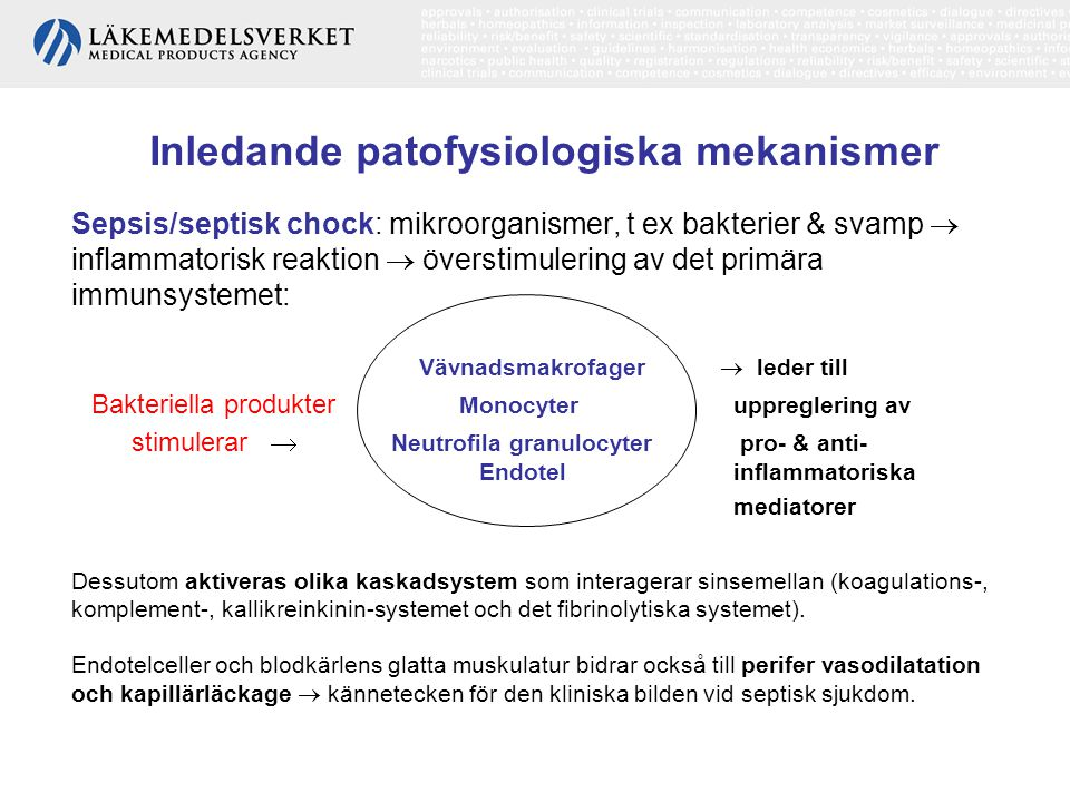 Inledande patofysiologiska mekanismer