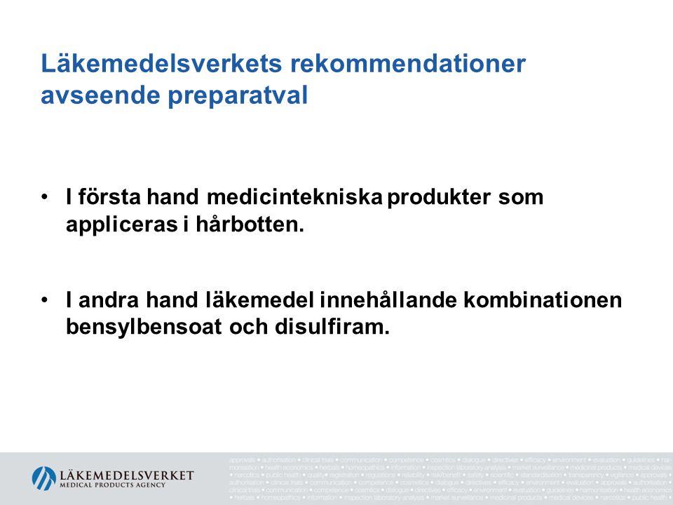 Läkemedelsverkets rekommendationer avseende preparatval