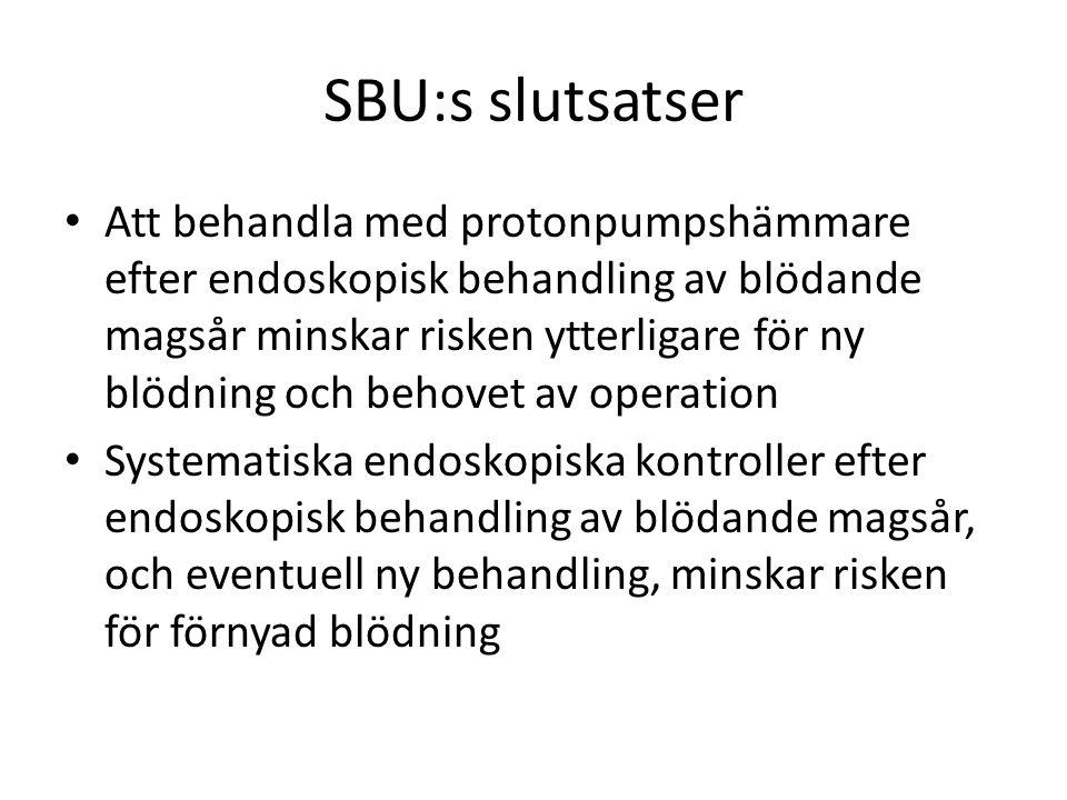 SBU:s slutsatser