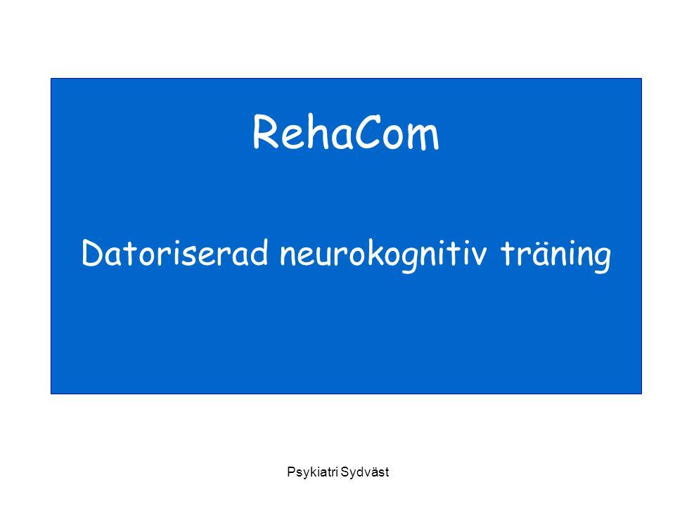 Datoriserad neurokognitiv träning