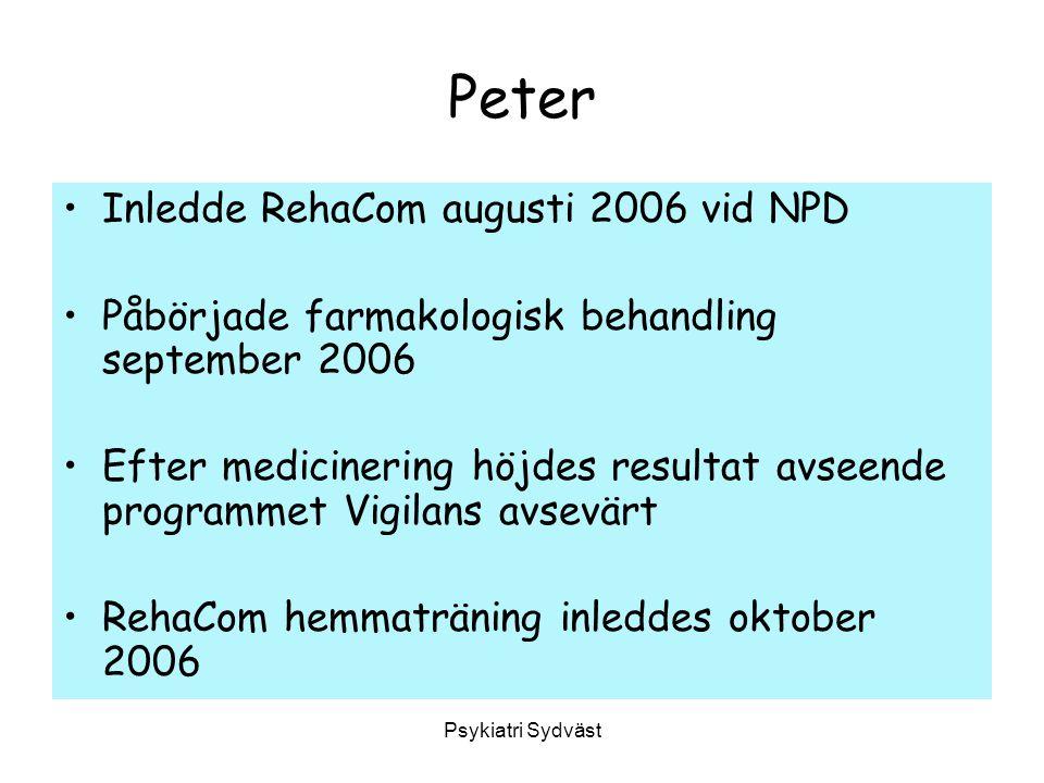 Peter Inledde RehaCom augusti 2006 vid NPD