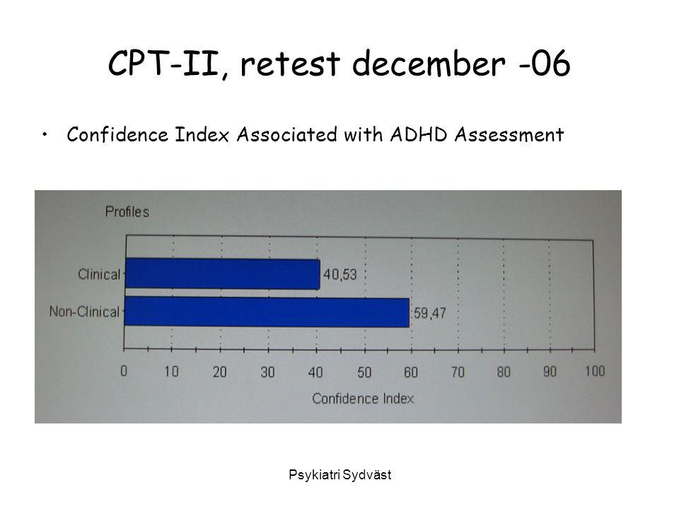 CPT-II, retest december -06