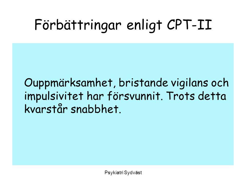 Förbättringar enligt CPT-II