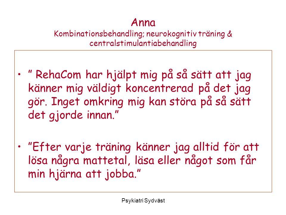 Anna Kombinationsbehandling; neurokognitiv träning & centralstimulantiabehandling