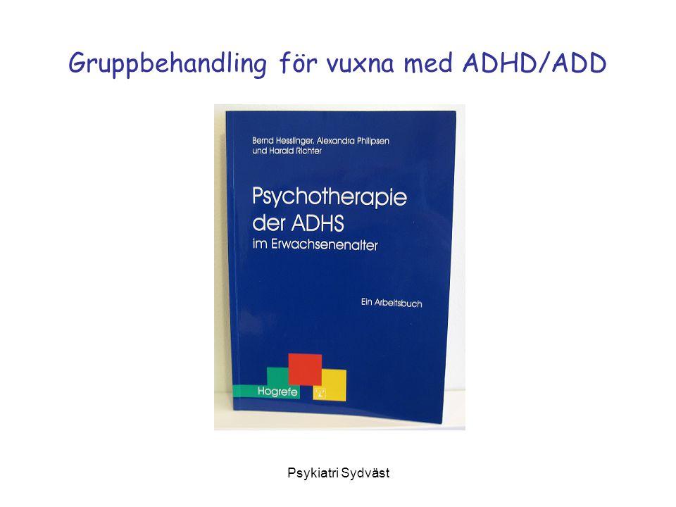 Gruppbehandling för vuxna med ADHD/ADD
