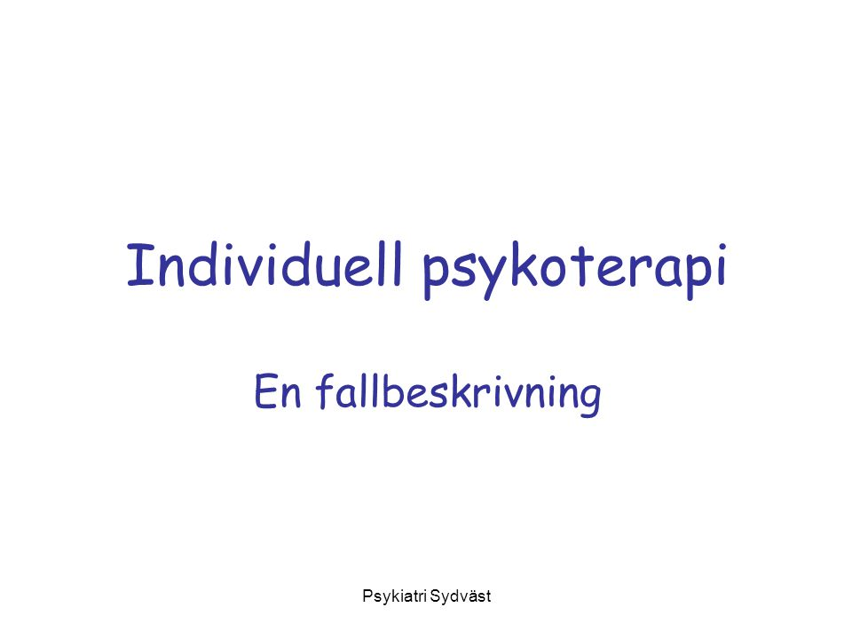 Individuell psykoterapi
