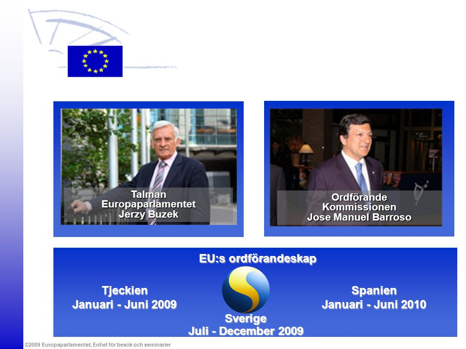 EU:s ordförandeskap Tjeckien Januari - Juni 2009 Spanien